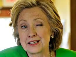 Hillary winking 2